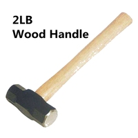 Urijk 2LB Sledge Hammer Punho de Madeira Aço Carbono Cabeça Grande Dupla Face Casa Martelo Ferramenta de Mão de Alta Qualidade Venda Quente