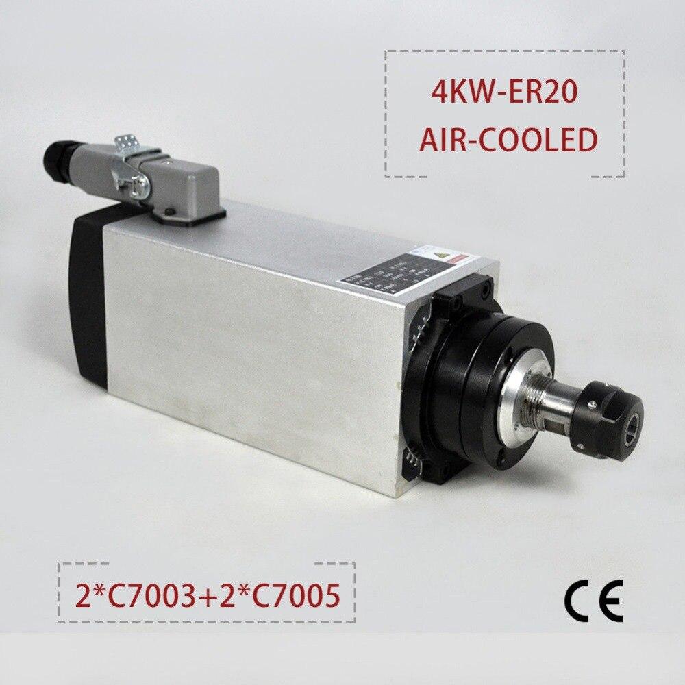 CNC broche 4kw 220 v refroidi par air broche moteur haute vitesse CNC moteur broche de fraisage pour fraiseuse