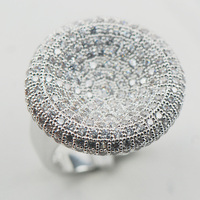 White Sapphire 925 Sterling Silver Ring Size 6 7 8 9 10 11 A16