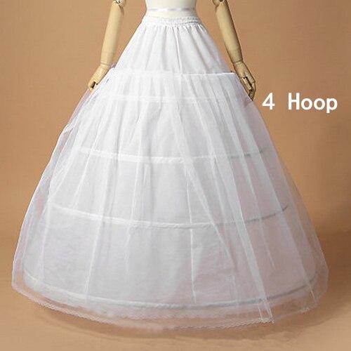 Hot Sale 4 HOOP In Stock Petticoat Discount Ball Gown Puffy Underskirt Crinoline 4 Hoop Wedding Petticoat