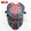 Operação de Campo ao ar livre CS Crânio Predador Airsoft Choque Com Metal Viseira Completa Rosto Proteção Máscara do Dia Das Bruxas, Máscaras de dança