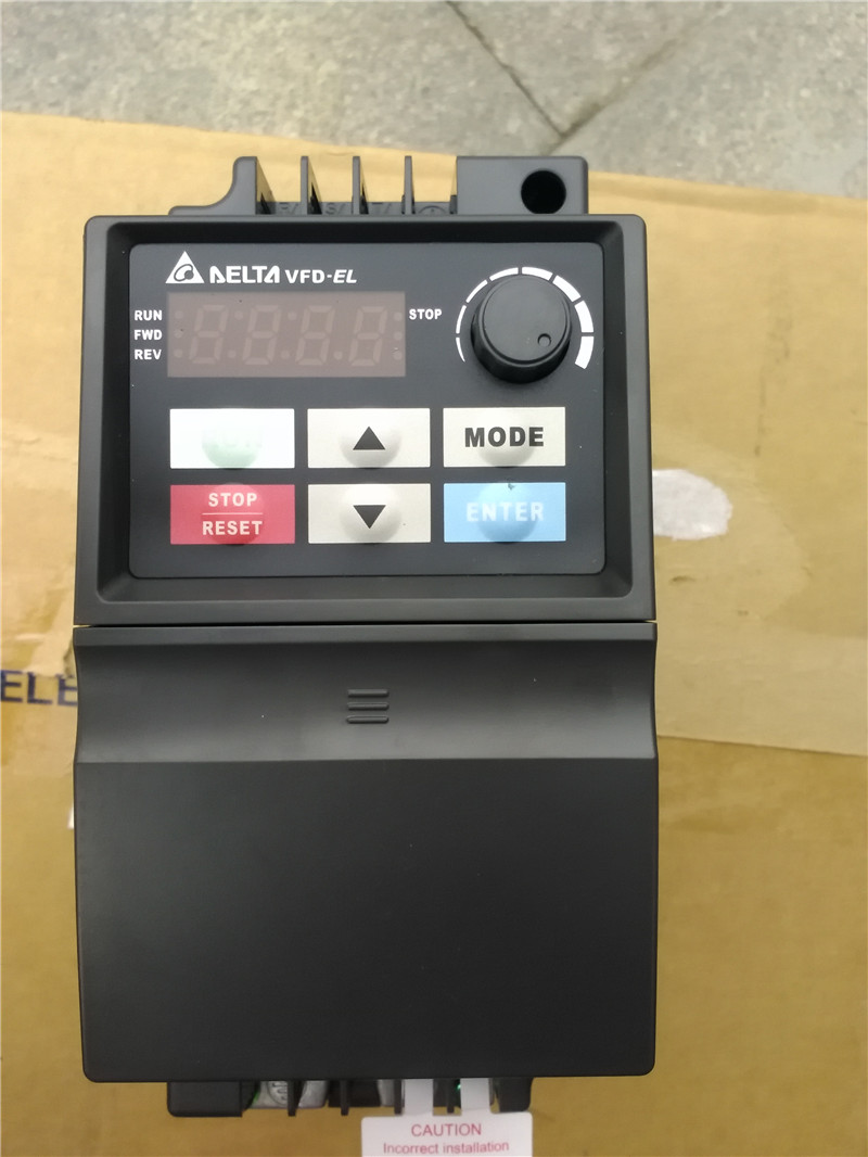 VFD007EL23A DELTA VFD-EL VFD Inverter Frequency converter 750W 1HP 3PHASE 220V 600Hz for Small water pump and fan vfd750cp43b 21 delta vfd cp2000 vfd inverter frequency converter 75kw 100hp 3ph ac380 480v 600hz fan and water pump