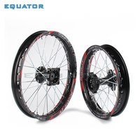 Black 12mm 15mm Front 1.40x14 inch Rear 1.85x12 inch Alloy Wheel Rim For 160cc 150CC Dirt Pit bike 12 14 inch wheel