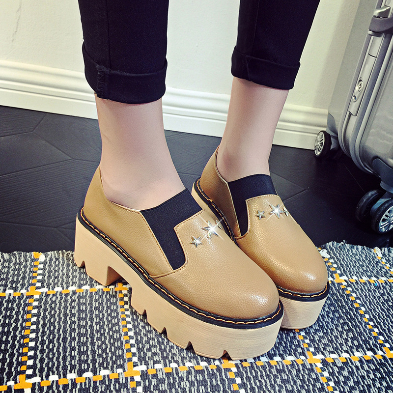 New Spring Fashion Style Hot font b Women b font Casual Shoes Brown Black White Thick