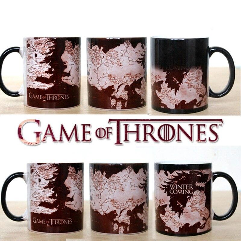 Right Game of Thrones Coffee Mug Mark Color Changing Cup Sensitive Ceramic Tea La Copa Friends