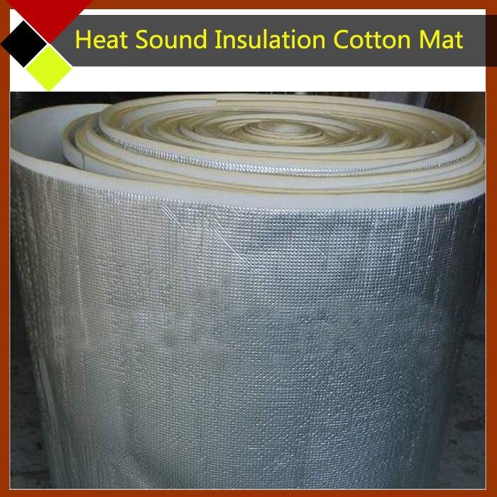 250cm x100cm Car <font><b>Hood</b></font> Tailgate Firewall Door Aluminum Foil Heat Deadener Sound Proof Insulation Cotton Rattle <font><b>Vibration</b></font> Control