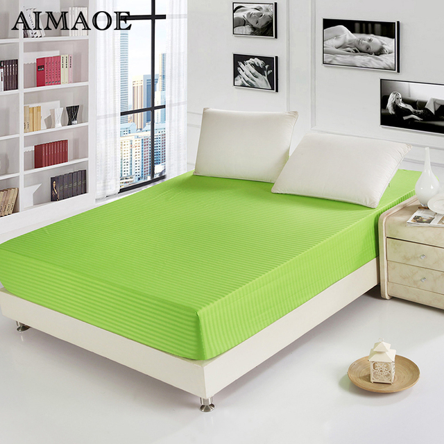 11 Colors 100% Cotton Wrinkle Free Mattress Cover Bed Sheet Bed Prodection  Pad Absorb