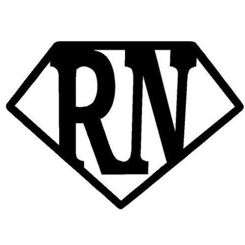 14 5x10 2cm rn super nurse nursing hero personality car sticker