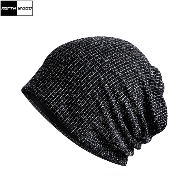 15ceb997 [NORTHWOOD] Unisex Lattice Black Beanie Hat For Men Winter Hats For Women  Bonnet Winter Beanies For Ladies