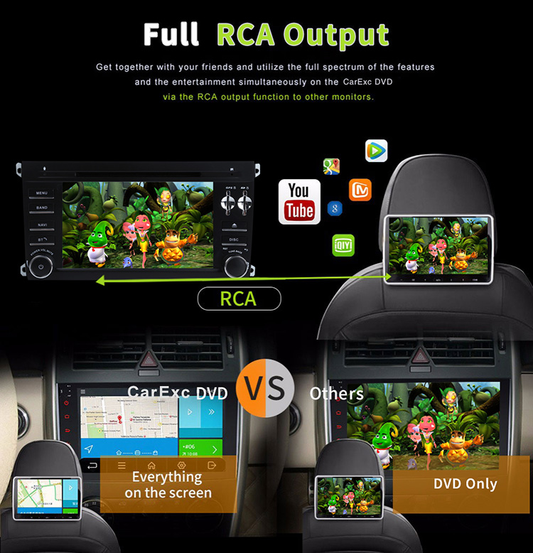 Flash Deal Android 9.0 Octa Core  Car DVD Player Stereo System For Porsche Cayenne With Canbus Wifi GPS Navigation Radio Carplay 24
