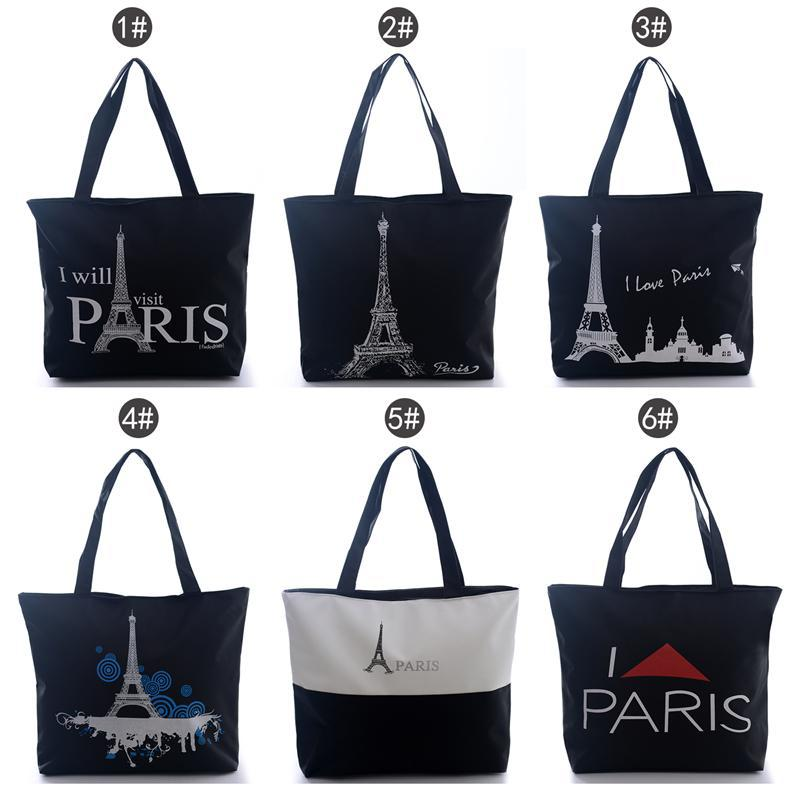 2017 Fashion Black Women S Paris Towels Handbag Shoulder Bags Tote Canvas Hobo Free Shipping Ln In Crossbody From Luggage On