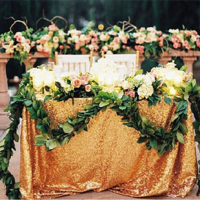 120x180 см блесток скатерть Прямоугольник Серебро для свадьбы Рождество Черная пятница вечерние льняные товар для быта домашняя скатерть - Цвет: Gold