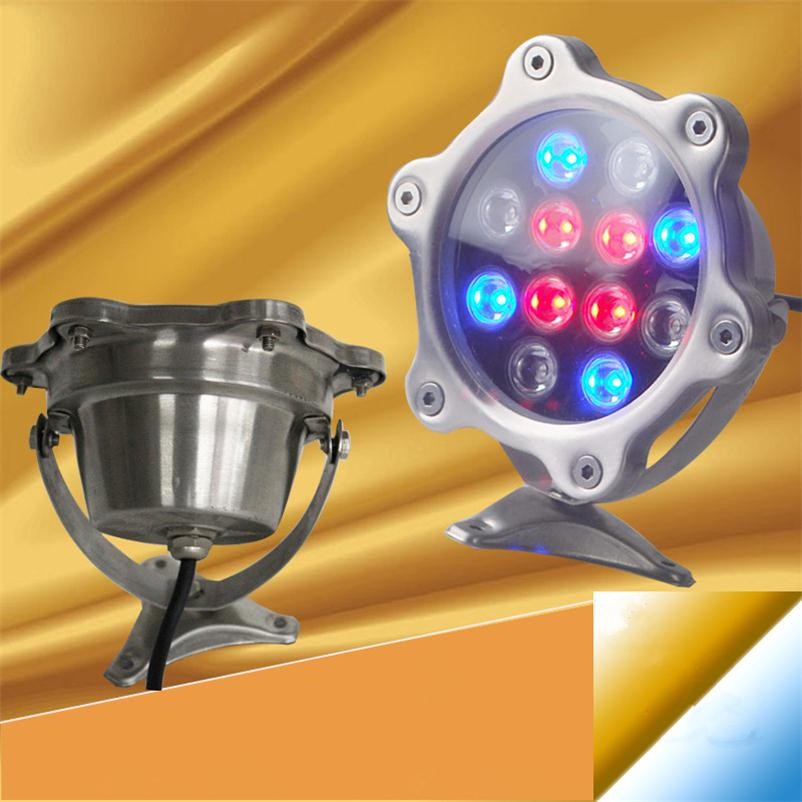 Led Underwater Foutain Light 12w 1200lm Pool Lamp Ponds Swimming Aquarium Outdoor Lighting