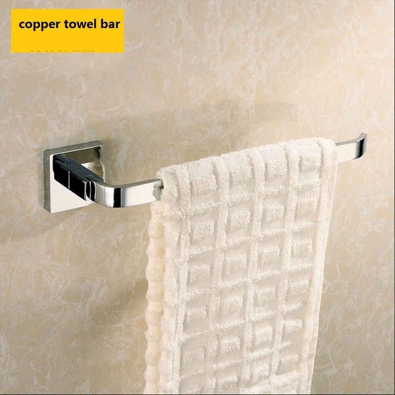 ФОТО Free shipping Bathroom towel bar all copper towel bar towel rack single rod square