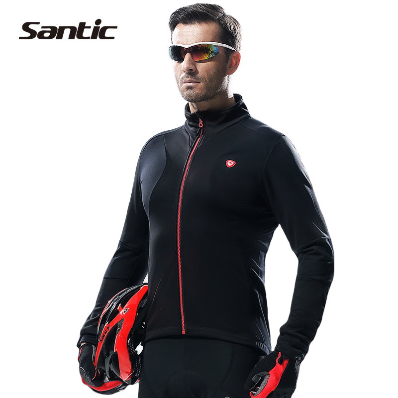 Santic Cycling Jackets Winter Warm Up Bicycle Clothing Thermal Windproof Sports Coat MTB Bike Jersey Cycling Clothes WSM144F0702 2017 santic mens breathable cycling jerseys winter fleece thermal mtb road bike jacket windproof warm quick dry bicycle clothing