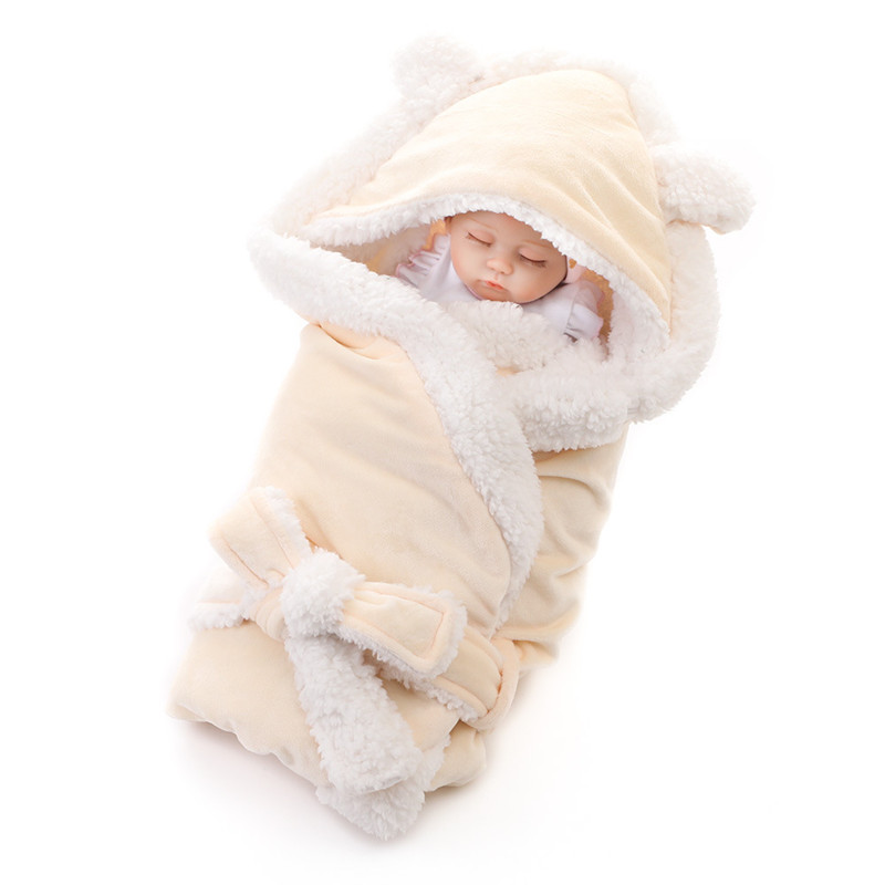 Image 3 - Solid Soft Newborns Swaddle Wrap Baby Sleeping Bag Infant Envelope Baby Sleeping Bag Stroller Sleeping Bag Kids Sack Blanket-in Sleepsacks from Mother & Kids