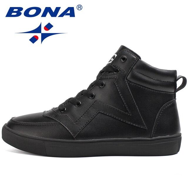 BONA New Arrival Hot Style Men Skateboarding Shoes Outdoor Walking Sneakers Lace Up Sport Trainer Zapatillas Hombre Deportiveas