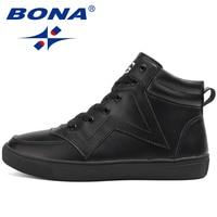 BONA Nieuwe Collectie Hot Stijl Mannen Skateboarden Schoenen Outdoor Wandelen Sneakers Lace Up Sport Trainer Zapatillas Hombre Deportiveas