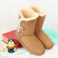 Limited time discount Boots Australia 2017 new natural sheep fur boots leather boot warm shoes free shipping