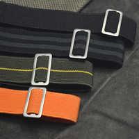 2019 tout nouveau bracelet de montre 18 20 22 mm troupes françaises Parachute sac otan bracelet de montre bracelet élastique en Nylon noir argent or KZSJ