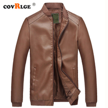 Covrlge PU Leather Jacket Men Fashion Slim Mens Coat 2019 Spring Autumn Jackets Brand Casual MWP047