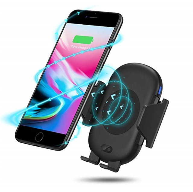 10W Automatic Infrared Sensor Car Stand Holder QI Fast Wireless Charger For iphone XS MAX XR X 8 Plus For Samsung S8 S9+ Note 9