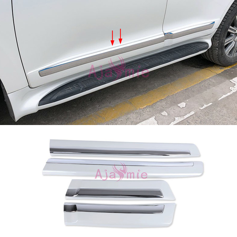 Chrome Car Styling Body Side Door Moulding Trim Kits 2008 2017 Pearl White Black For Toyota