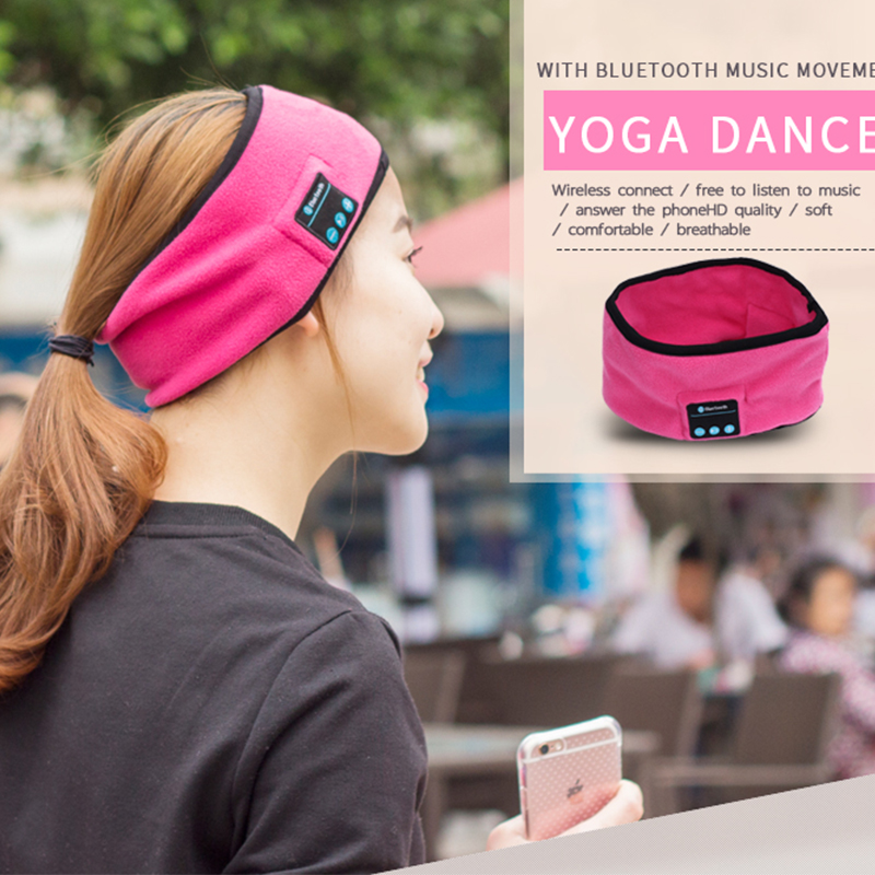 Sports earphones Bluetooth Wireless Music Hat Headset for Running Yoga Sweat Scarf Women's Fashion for phone computer