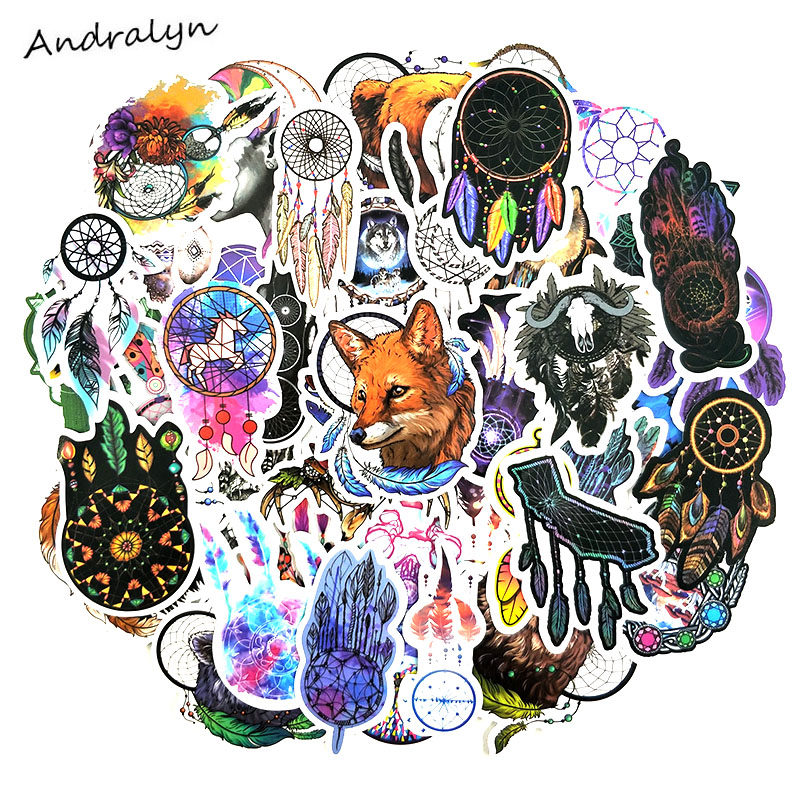 57 Pcs/pack Temporary Dream Series Dreamcatcher Stickers For Skateboard Motorcycle Wardrobe Luggage Laptop Adesivos Toys Sticker