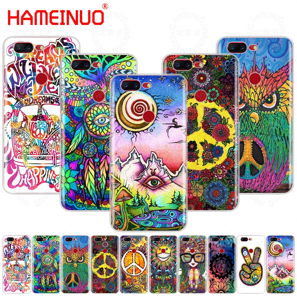 HAMEINUO Hippy Hippie Psychedelic Art Peace cover phone case for Oneplus one plus 5T 5 3 3t 2 X A3000 A5000