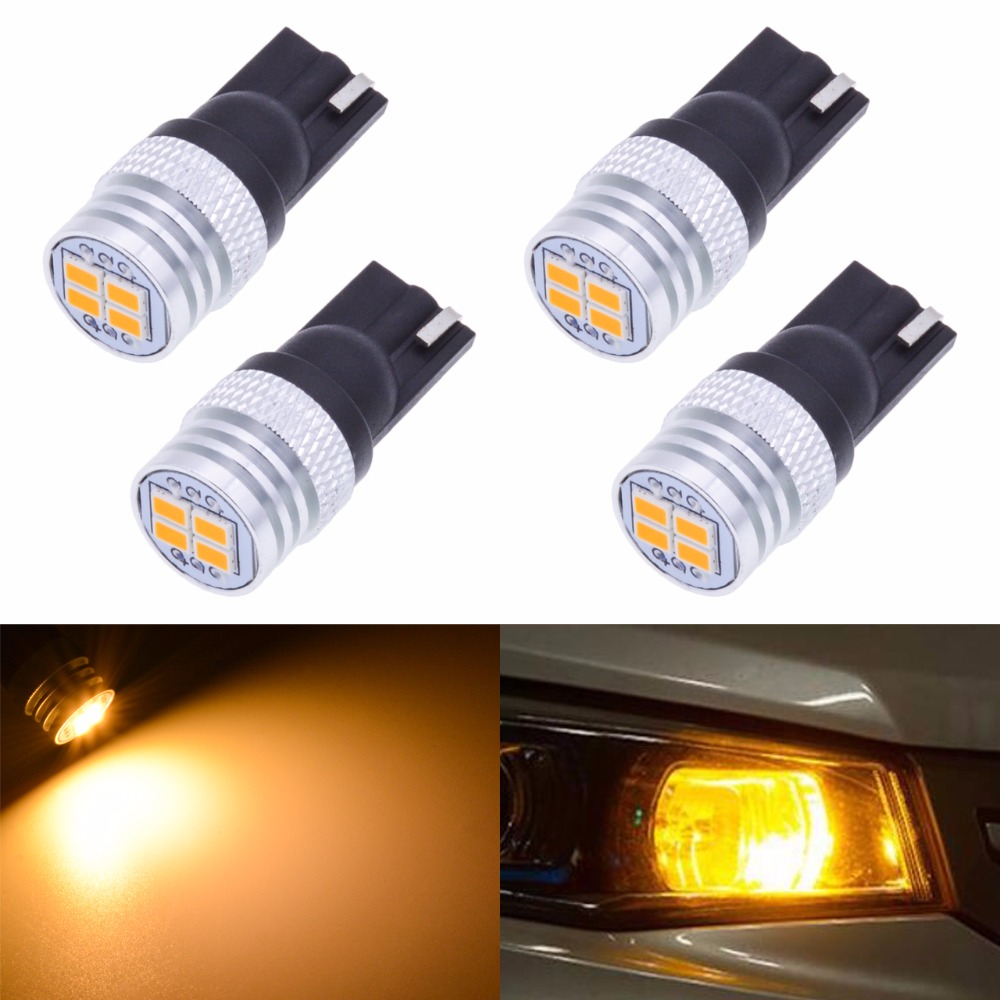 Katur T10 W5W 168 Led Bulbs Interior Lighting Clearance Side Marker Lights License Plate Lamp 3020 Chip 450Lm T10 Amber Orange t10 led lights w5w auto wedge license plate bulbs turn signal marker led lamps warm white 20smd 3020 1206 dome 12v 194 168 10pcs