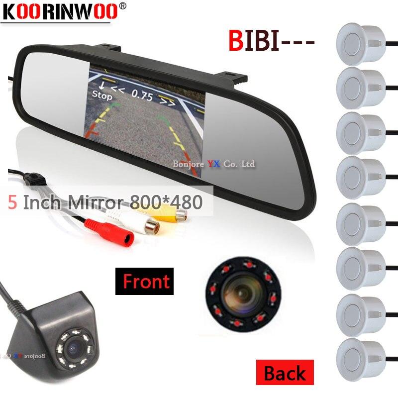Koorinwoo Car Detector Parktronic 22mm Car Parking Sensor 8 System Monitor Mirror Rear view Camera Front