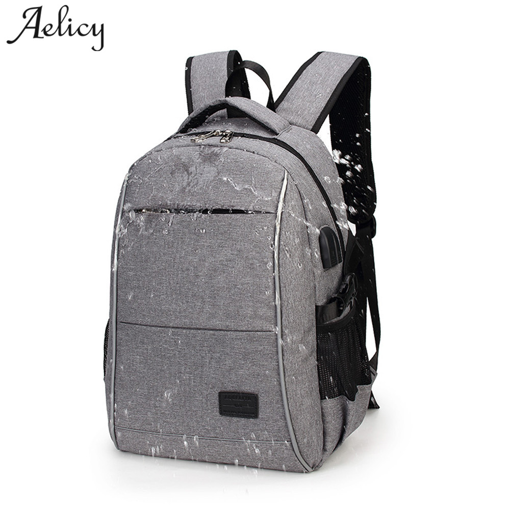 Aelicy 2018 External Charging USB Function Laptop Backpack Anti-theft Man Business Dayback Waterproof Backpacks Travel Bag kingsons external charging usb function school backpack anti theft boy s girl s dayback women travel bag 15 6 inch 2017 new