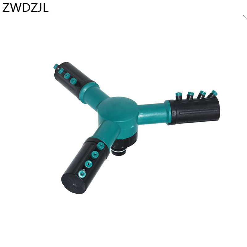 Garden Rotating Sprinkler 1/2 Three-arm Rotating Spray Nozzle 360 Degree Rotary Adjustable Sprinkler Lawn Irrigation 1pcs