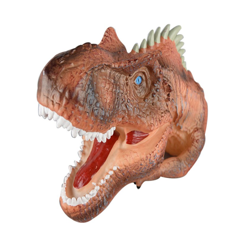 2017 Interactive Plastic dinosaur model Small Figure Toys Hand Tyrannosaurus Rex Puppet for children Fool 's Day Gift big one simulation animal toy model dinosaur tyrannosaurus rex model scene