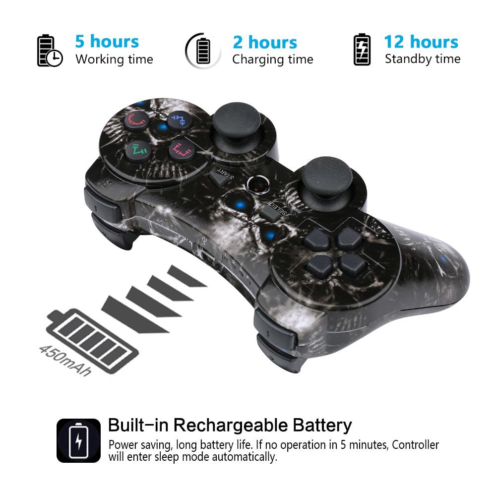 10 pçs/caixa para ps2 controlador sem fio pc gamepad para playstation3 controlador dmx joystick & game controlador mini usb com fio gamepad - 4