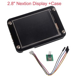 2.8 inch Nextion Enhanced Display UART HMI Touch Display Module LCD Screen +Black Acrylic Case for Arduino Raspberry Pi GPIO