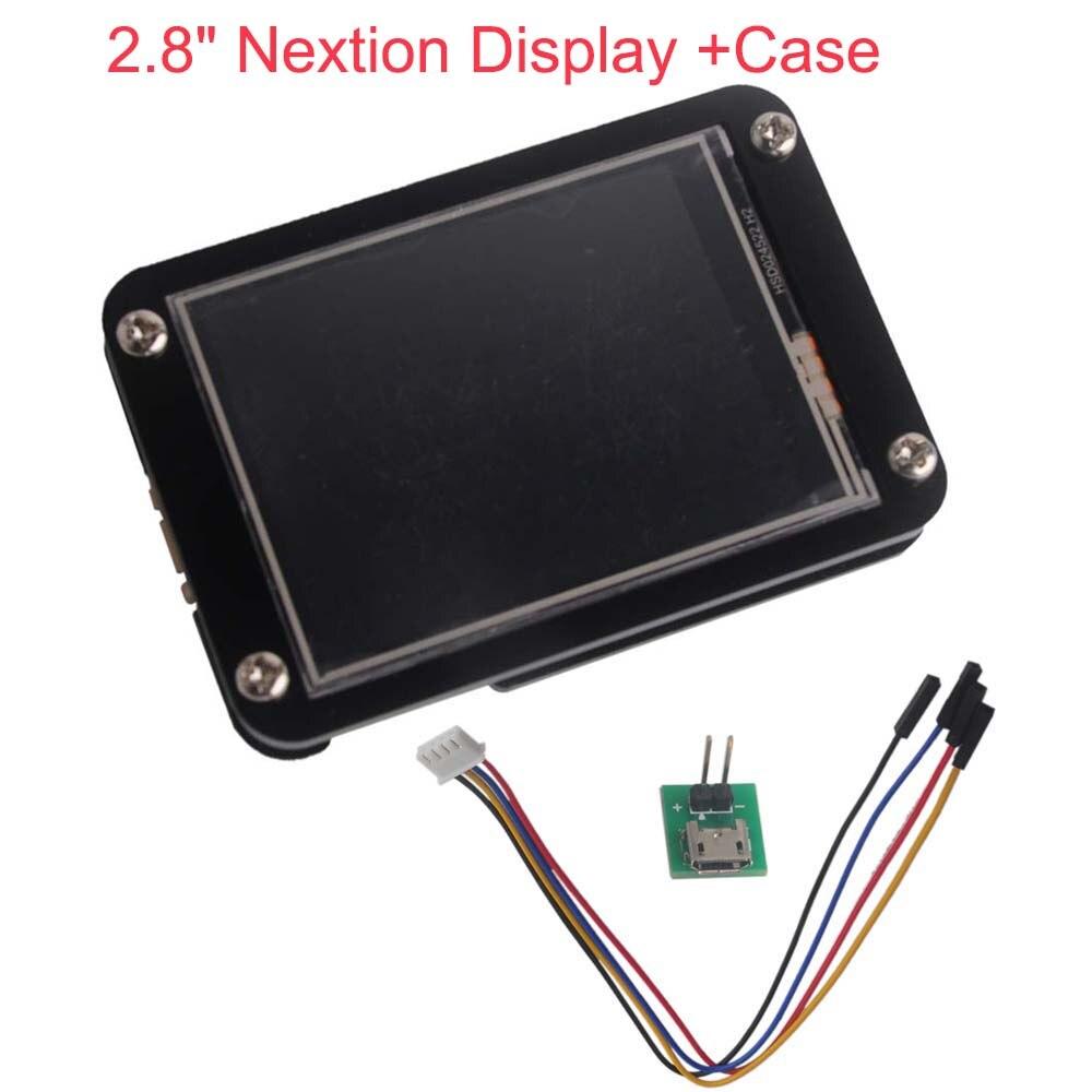 2.8 pouces Nextion affichage amélioré UART HMI Module d'affichage tactile écran LCD + étui acrylique noir pour Arduino Raspberry Pi GPIO