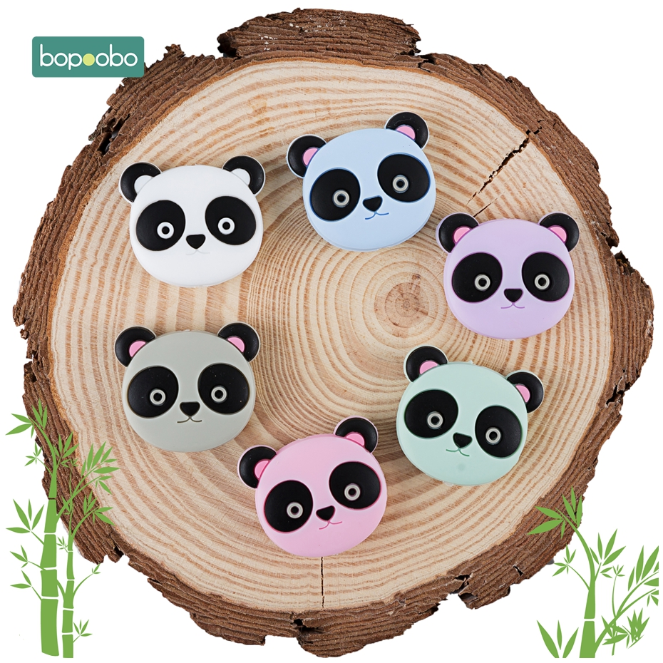 Bopoobo 20 Silicone Teething Beads Cartoon Sheep Food Grade BPA Free Teether DIY Beads For Pacifier Silicone Panda Rodents
