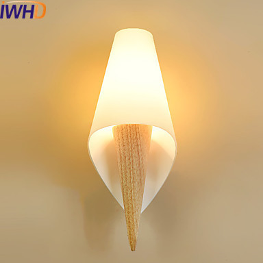 IWHD Nordic Wooden LED Wall Lights For Home Indoor Lighting Luminaire Beside Wall Lamp Sconce Arandela Lamparas De Pared modern led wall light for home beside lamp wall sconce led stair light arandela lamparas de pared