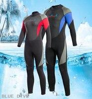 3mm wet diving suit keeps warm in winter