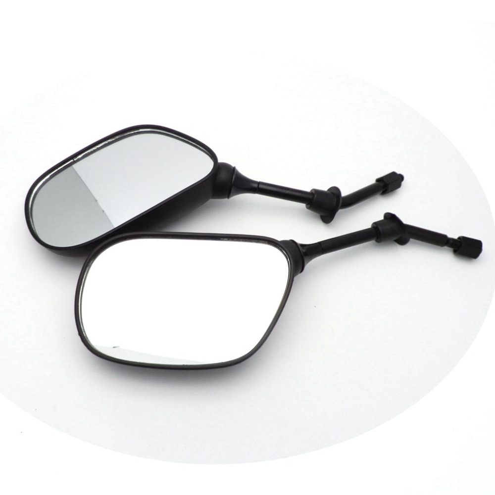 8mm Black Side Mirrors for GY6 50cc 125cc 150cc 250cc Chinese Scooter Moped Motorcycle Rear View Mirror