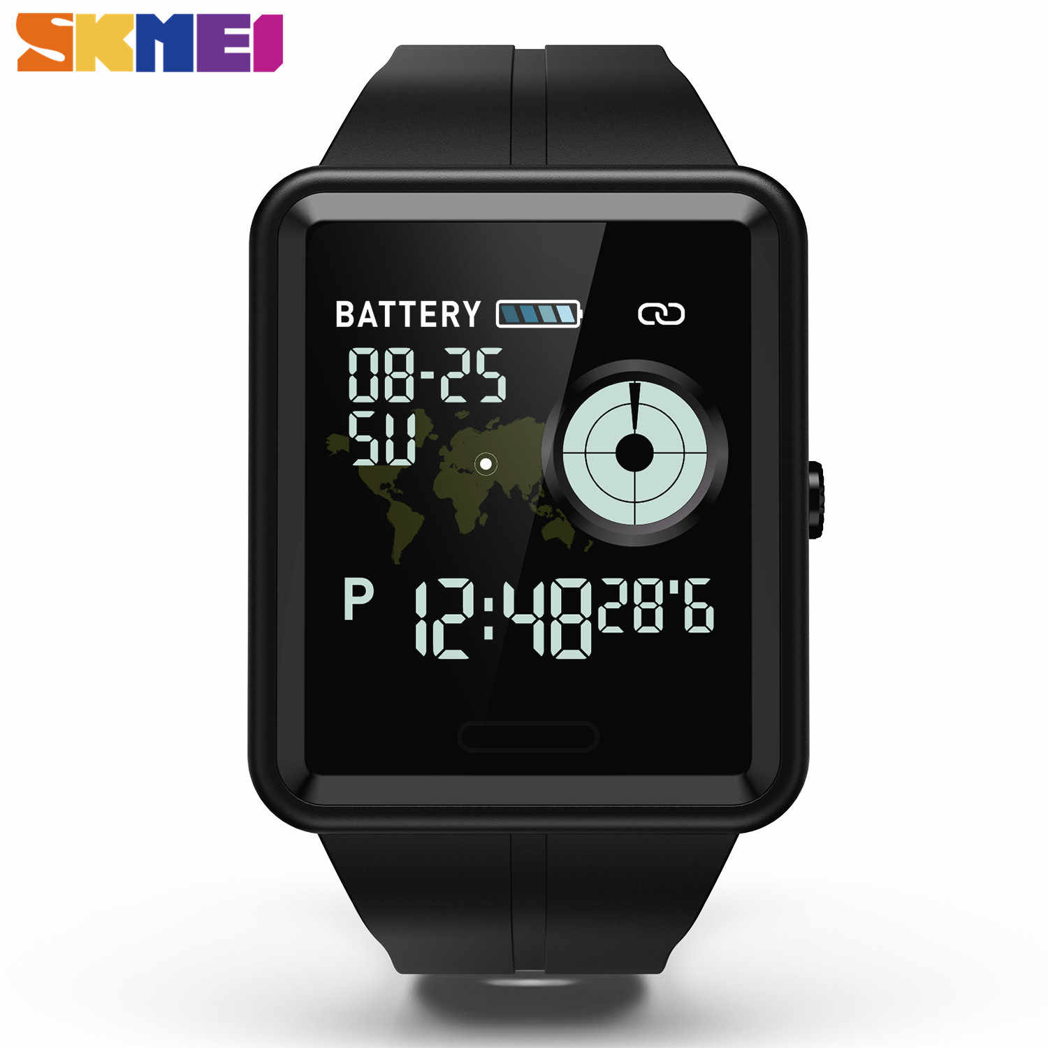 SKMEI Smart Sport Watch Touch Screen Call Reminder Watch Heart Rate Blood Pressure Sleep Monitoring Waterproof Wristwatche W37