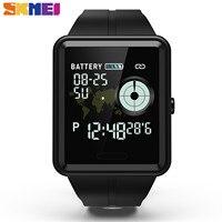 SKMEI Смарт спортивные часы с сенсорным экраном напоминание о звонке часы пульсометр кровяное давление мониторинг сна водонепроницаемый ...