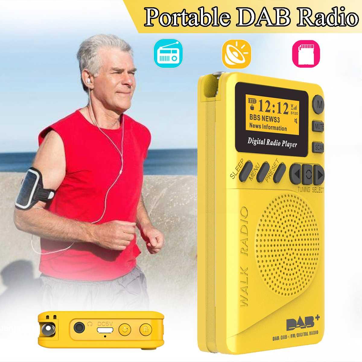 Mini DAB+Digital FM Radio 174240MHz LCD Display SD Cards Speaker Music MP3 Player Loudspeaker Portable HIFI Radio for Elder Gift