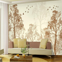 Photo Wallpaper Flash Classic Simplicity Hazy Beauty Bird Tree Art Wall Paper Wall Mural Wallpaper Painting