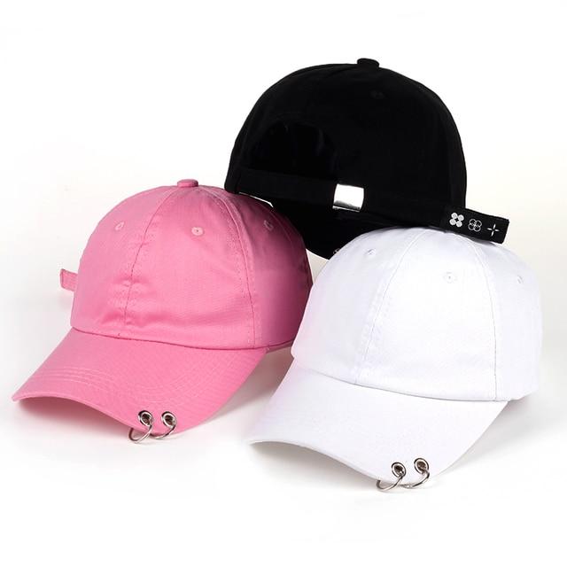 2017 new 3 color with rings bts jimin hat bts suga baseball cap BTS LIVE  THE WINGS TOUR kpop bts cap Iron Ring snapback Hats 7b0f73c24f08