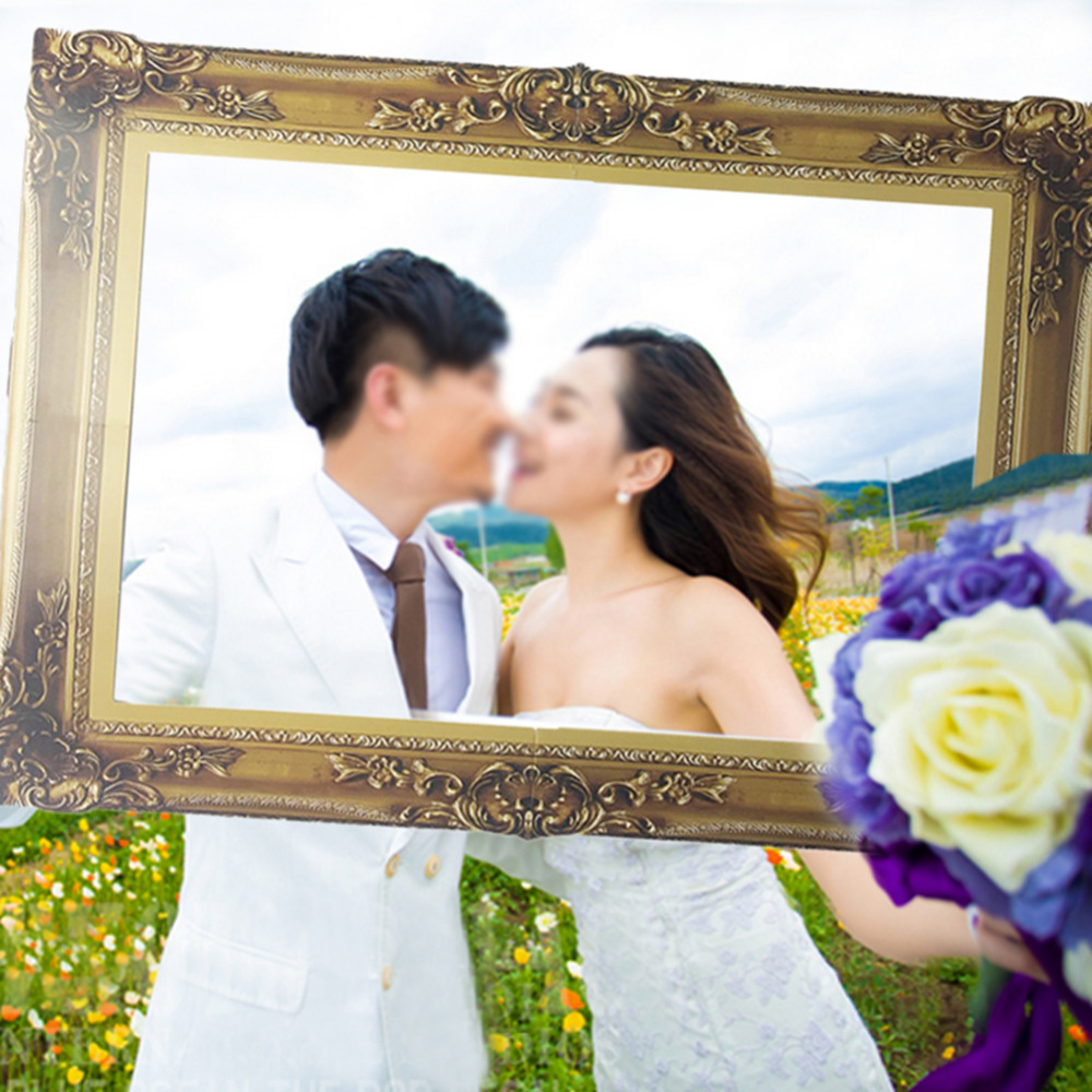 Classic Photo Props Paper Photo Frame For Wedding Birthday