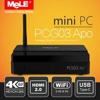 Fanless Windows 10 Mini PC Desktop MeLE PCG03 Apo 4GB 32GB Intel Apollo Lake Celeron N3450