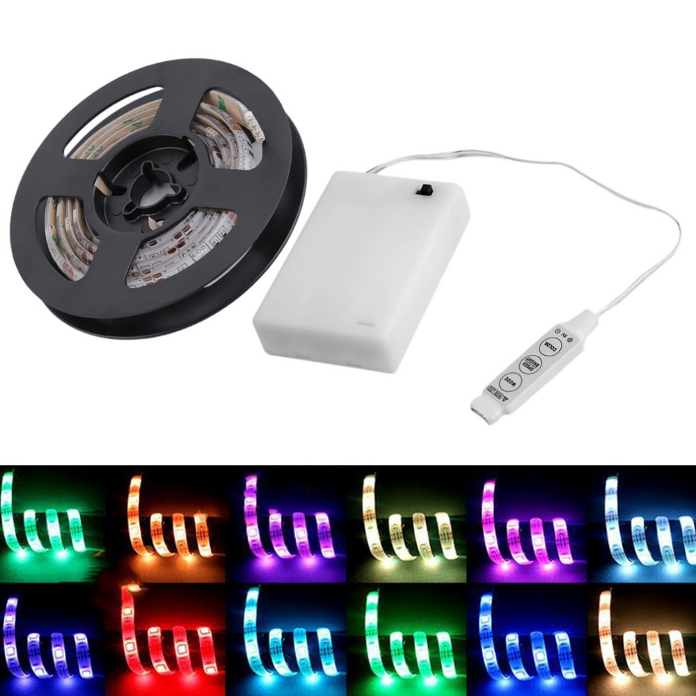 2015 Brand   4.5V Battery Operated 200CM RGB LED Strip Light Waterproof Craft Hobby Light Hot Selling